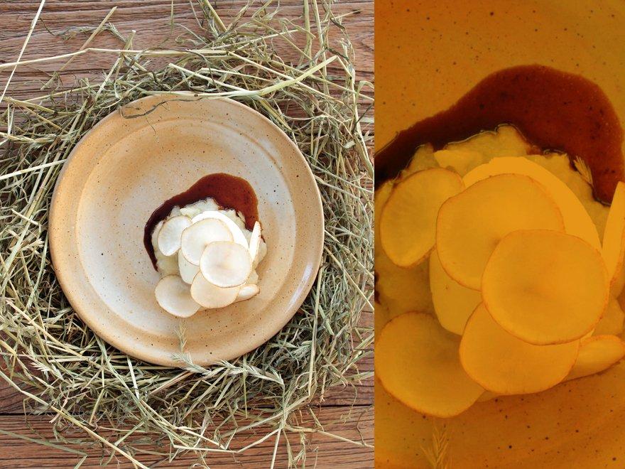 L'œuf de poule heureuse fumé au foin de Florent Ladeyn, Flandres