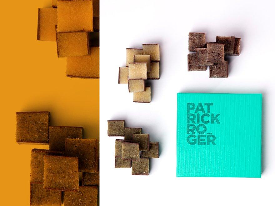 Cubes de pâte d'amande aux légumes - Patrick Roger