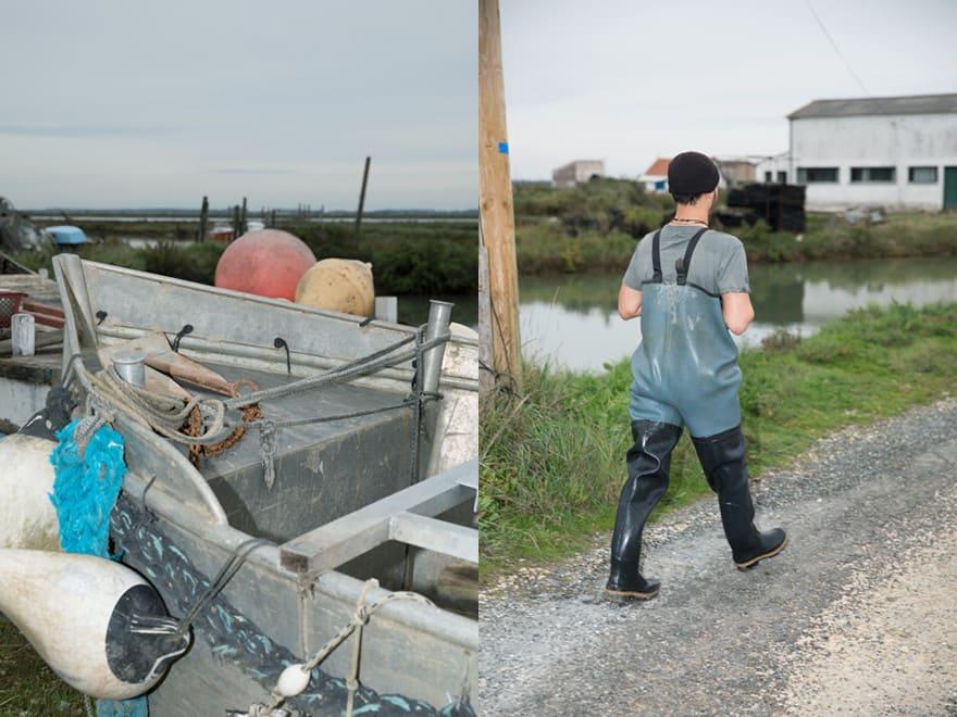 Thomas Archambeau pêche des huîtres naturelles