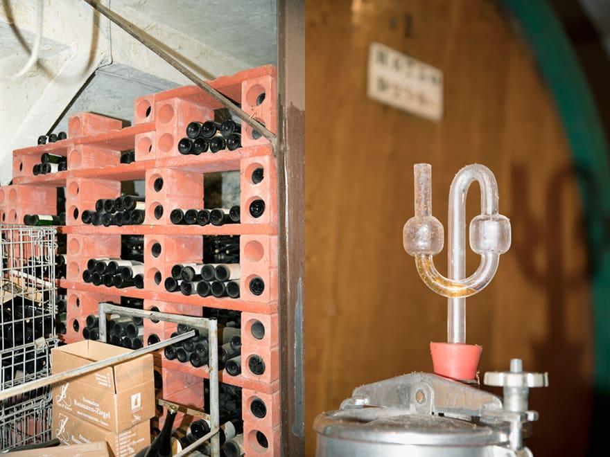 Chais et vieillissement vins d'Alsace bio au domaine Baumann-Zirgel
