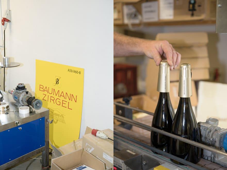 Mise en bouteille de Crémant d'Alsace au domaine Baumann-Zirgel