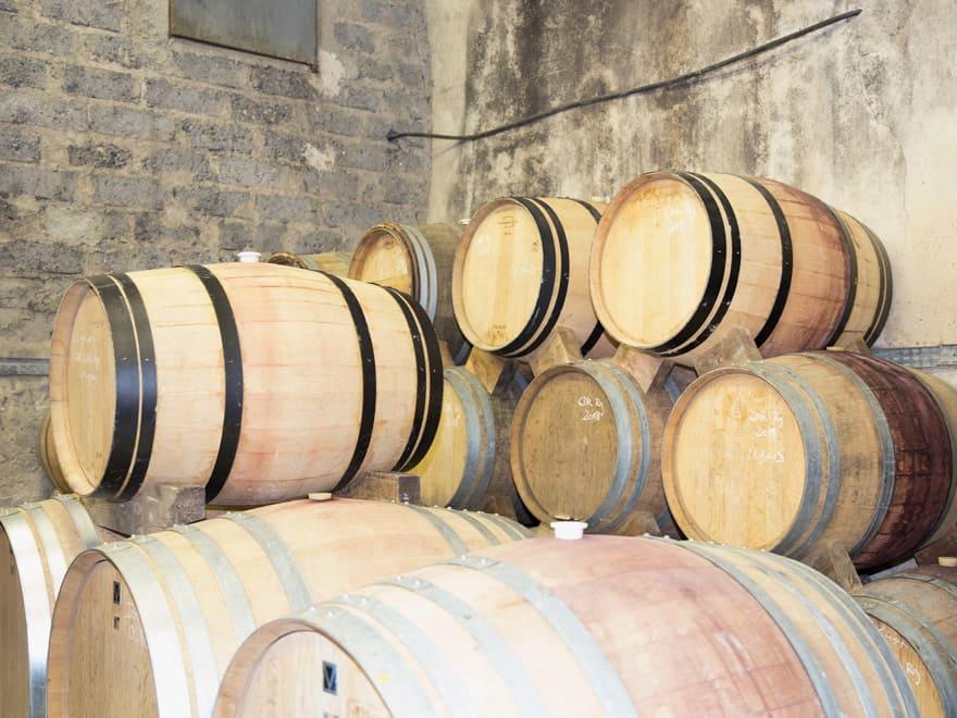 Fûts de vin vallée du Rhône Domaine Olibrius